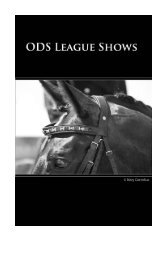 GENERAL INFORMATION ABOUT ODS LEAGUE SHOWS