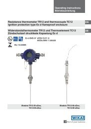 Resistance thermometer TR12 and thermocouple TC12 ...
