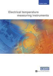 Electrical temperature measuring instruments