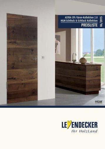 ASTRA CPL-Türen-Kollektion 2.0 + HGM Echtholz & Echtlack Kollektion