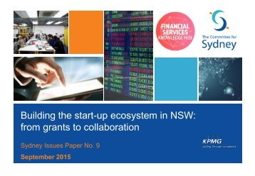 Building the start-up ecosystem in NSW from grants to collaboration