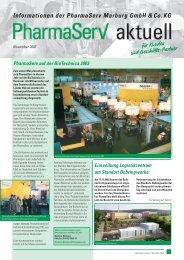 Informationen der PharmaServ Marburg GmbH &Co.KG für Kunden ...