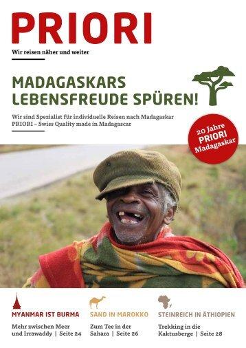 Reisen nach Madagaskar und in die Welt - PRIORI Katalog 2014