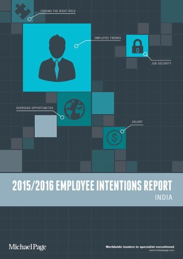 2015/2016 EMPLOYEE INTENTIONS REPORT