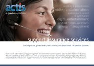 Actis Support Assurance Services