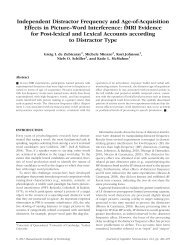 fMRI Evidence for Post-lexical a - Niels O. Schiller