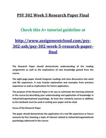 social psychology final paper