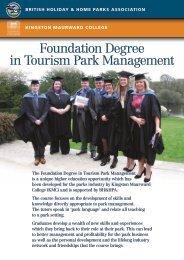 Foundation Degree in Tourism Park Management