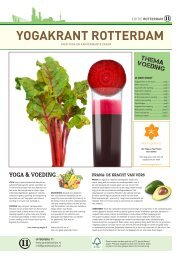 Yogakrant Rotterdam thema voeding