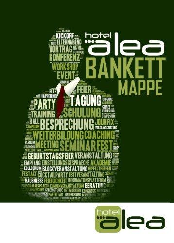 Hotel Alea Bankett-Mappe