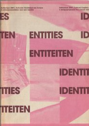 Identities: Rotterdam 2001, cultural capital of Europe: 5 design proposals for a house style