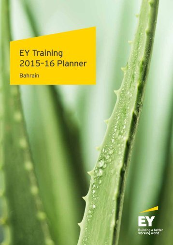 EY Training 2015–16 Planner