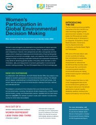 Women's Participation in Global Environmental Decision Making
