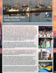 CITY OF BAYTOWN TEXAS FINANCE DIRECTOR masterplanned