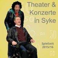 Syker Theaterprospekt Saison 2015-2016
