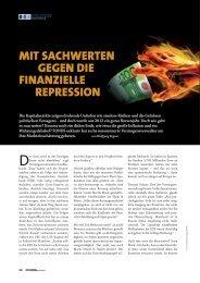 Mit Sachwerten gegen die finanzielle repreSSion - Grüner Fisher ...