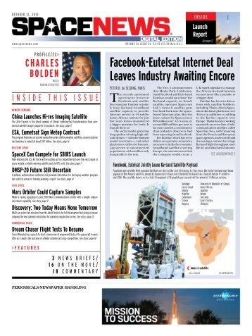 Facebook-Eutelsat Internet Deal Leaves Industry Awaiting Encore