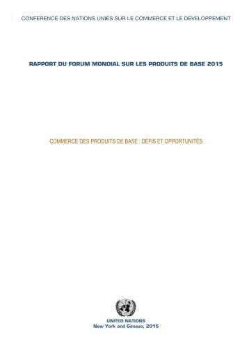 COMMERCE DES PRODUITS DE BASE  DÉFIS ET OPPORTUNITÉS