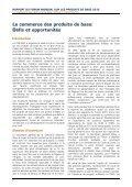 COMMERCE DES PRODUITS DE BASE  DÉFIS ET OPPORTUNITÉS - Page 6