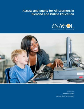 Access and Equity for All Learners in Blended and Online Education