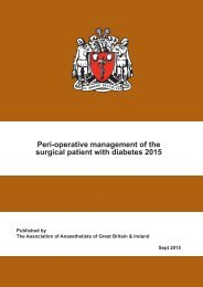 Peri-operative management of the surgical patient with diabetes 2015