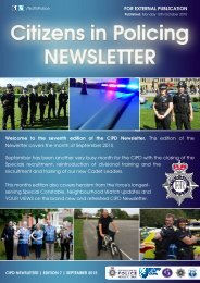 Citizens in Policing newsletter Edition seven - September 2015