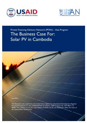 The Business Case For Solar PV in Cambodia
