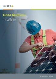 Unit4 Multivers Installatie