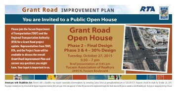 Grant Road Open House