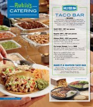 CATERING TACO BAR