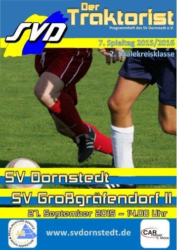 """""""Der Traktorist"""" - 7. Spieltag 2015/2016 - SV Dornstedt vs. SV Großgräfendorf II"""