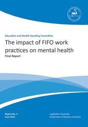 The impact of FIFO work practices on mental health