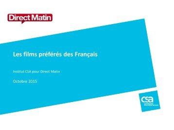 Les films préférés des Français