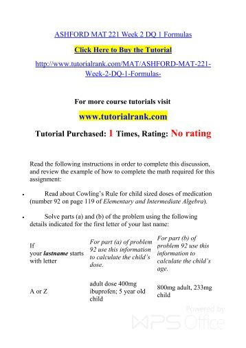 MAT 221 ASH Courses /TutorialRank