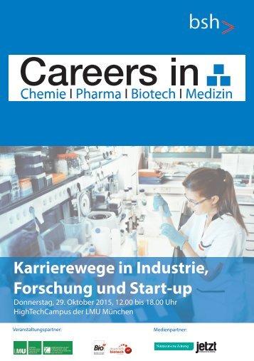 Careers in Chemie, Pharma, Biotech und Medizin 2015