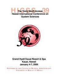 Grand Hyatt Kauai Resort & Spa Kauai, Hawaii January 4-7, 2006 ...
