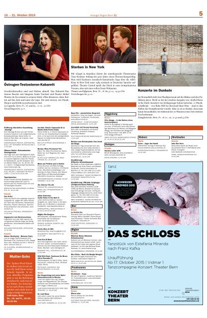 Berner Kulturagenda 2015 N° 42