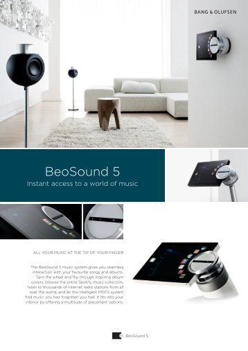 BeoSound 5 - Product Sheet_Apr15