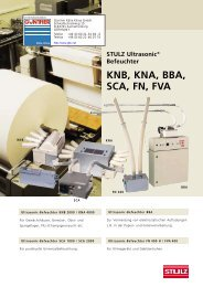 Stulz Ultrasonic Befeuchter KNB, KNA, BBA, SCA, FN, FVA
