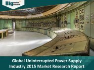 Uninterrupted Power Supply Industry Market Research Report 2015