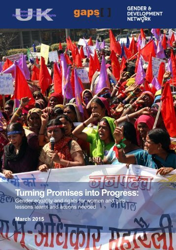 Turning Promises into Progress