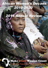 African Women's Decade 2010-2020 2014 Annual Review
