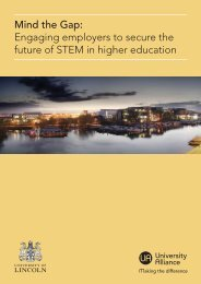 Mind the Gap Engaging employers to secure the future of STEM in higher education