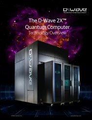 The D-Wave 2X Quantum Computer