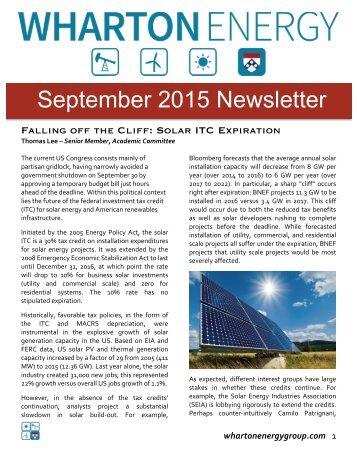 WUEG September 2015 Newsletter