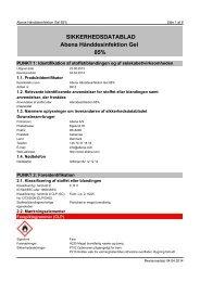 SIKKERHEDSDATABLAD Abena Hånddesinfektion Gel 85%