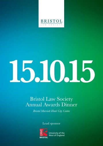 Bristol Law Society Annual Awards Dinner