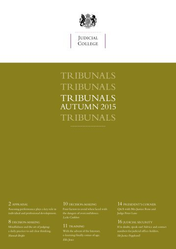 TRIBUNALS TRIBUNALS TRIBUNALS TRIBUNALS