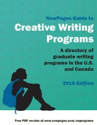 The NewPages Guide to Creative Writing Programs