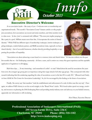 PAII newsletter October 2015